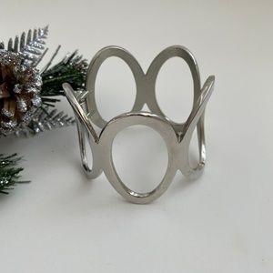 NWOT Silver Toned Statement Bracelet